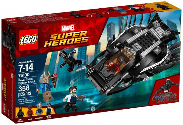 Nouveau LEGO Marvel 76100 L'attaque en avion chasseur royal (Black Panther) 2018