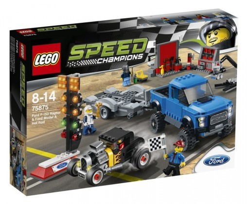 Lego Speed Champions Ford F-150 Raptor et le bolide Ford Modèle A