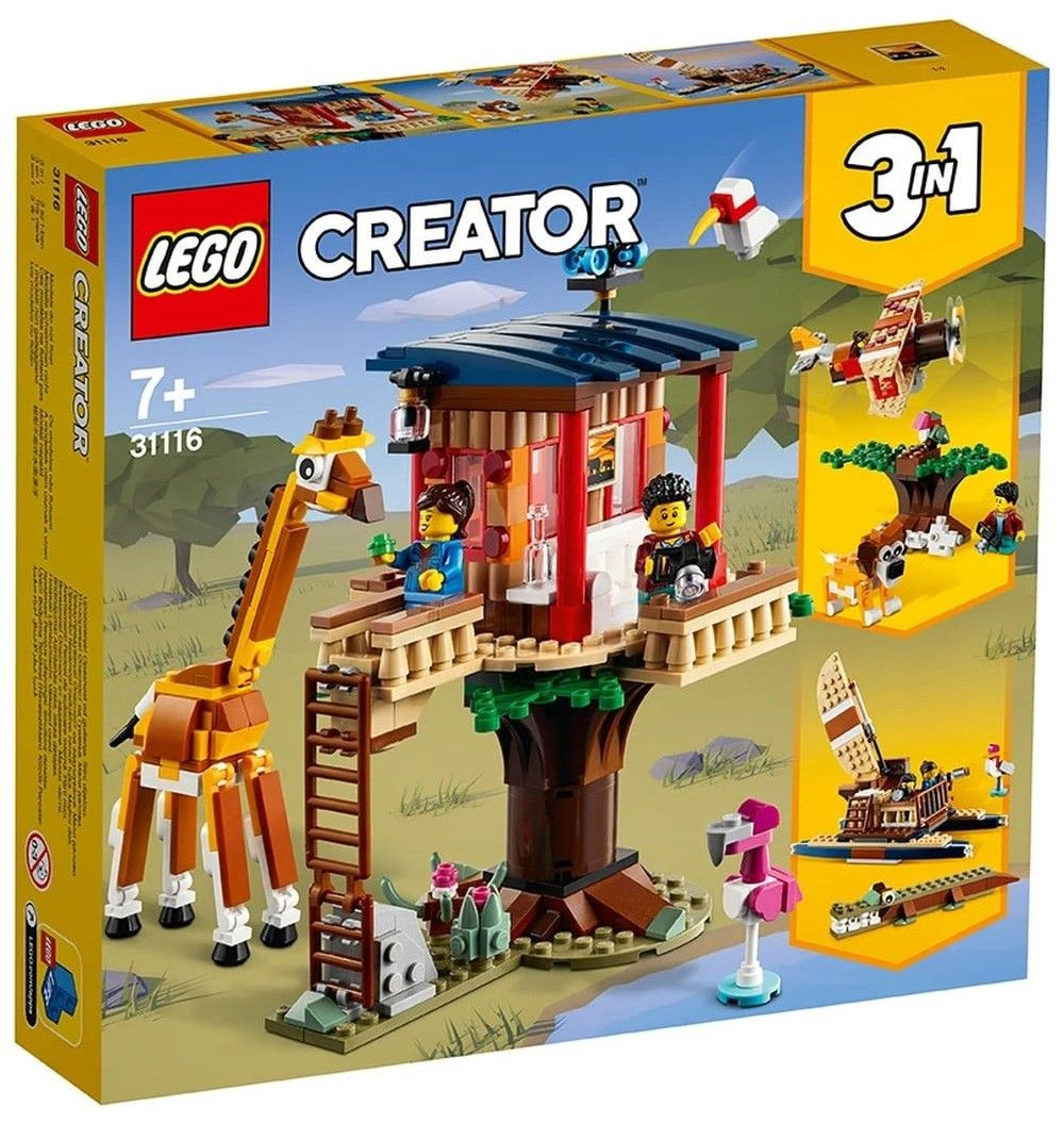 Nouveau LEGO Creator 31116 Safari Wildlife Treehouse // Mars 2021