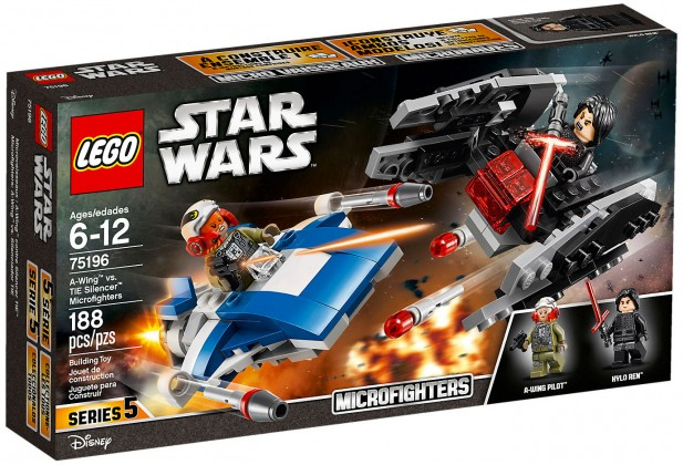 Nouveau LEGO Star Wars 75196 Microfighter A-Wing vs Silencer TIE 2018