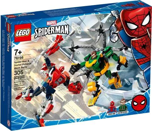 Nouveau LEGO Marvel 76198 La bataille des robots de Spider-Man et Docteur Octopus // Mai 2021
