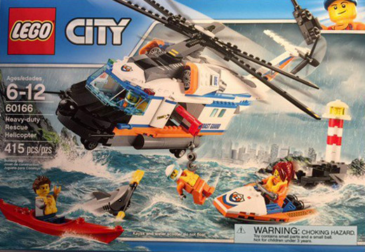Nouveau LEGO City 60166 Heavy-duty Rescue Helicopter 2017