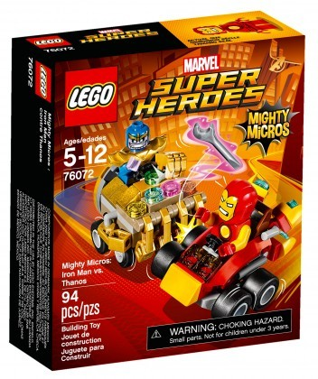 Nouveau LEGO Marvel Super Heroes 76072 Mighty Micros Iron Man contre Thanos