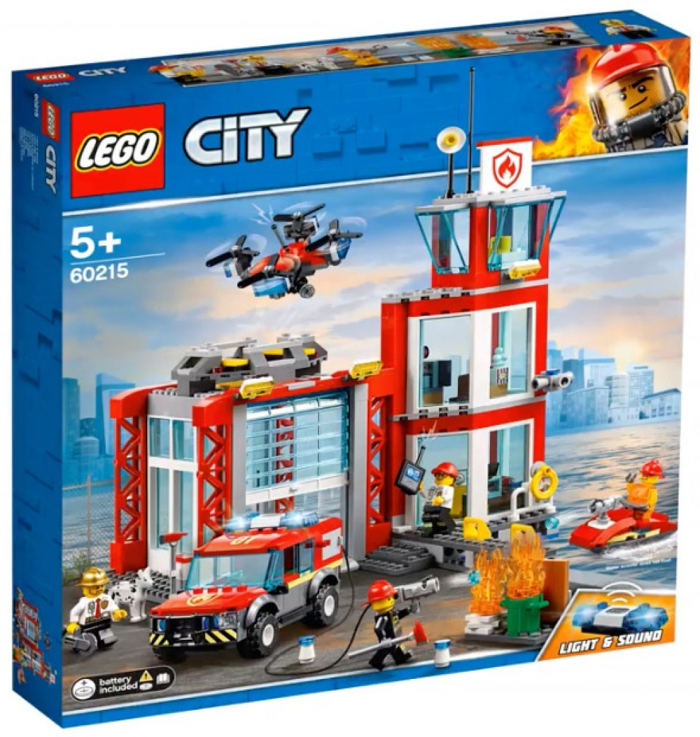 Nouveau LEGO City 60215 Fire Station 2019