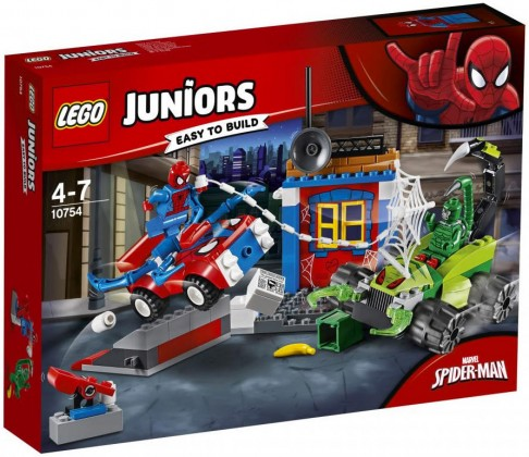 Nouveau LEGO Juniors 10754 Spider-Man vs Scorpion Street Showdown 2018