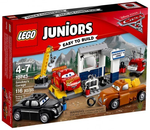 Nouveau LEGO Juniors 10743 Cars 3 Le garage de Smokey 2017