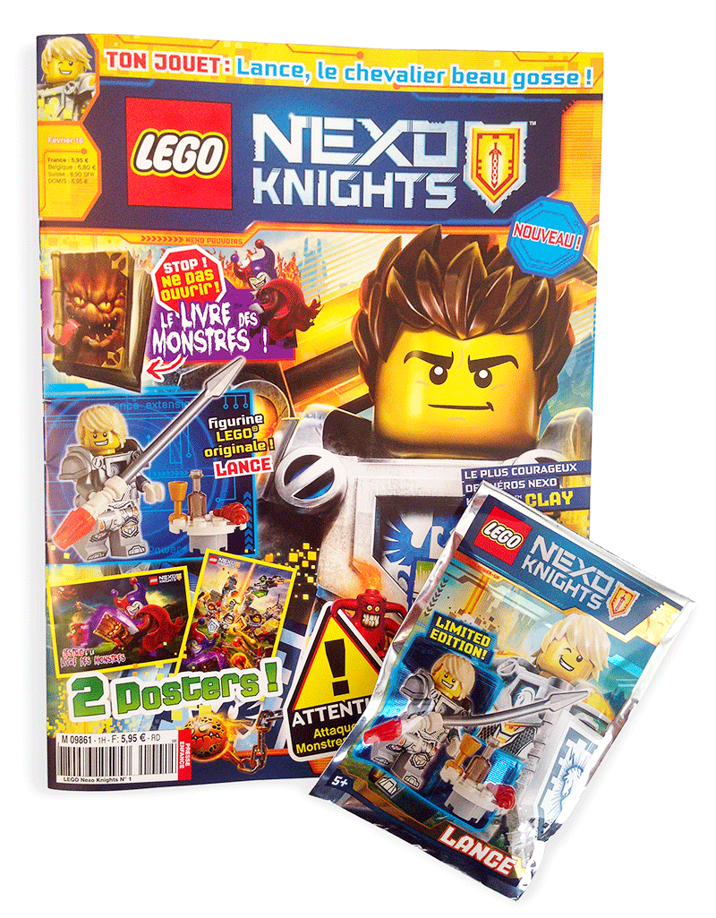 Photo 1 - Magazine N°1, LEGO Nexo Knights