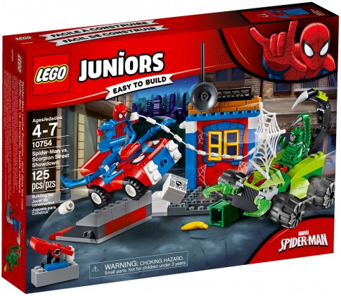 Nouveau LEGO Juniors 10754 Spider-man contre Scorpion (Marvel) 2018