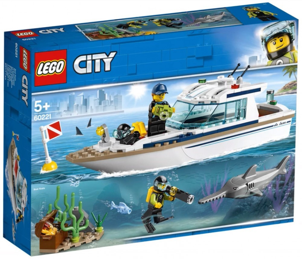Nouveau LEGO City 60221 Diving Yacht 2019