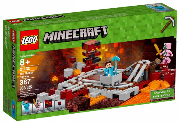 Nouveau LEGO Minecraft 21130 Les rails du Nether 2017