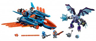 Nouveau LEGO Nexo Knights 70351 Clay's Falcon Fighter Blaster