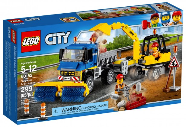 Nouveau LEGO City 60152 Sweeper & Excavator 2017