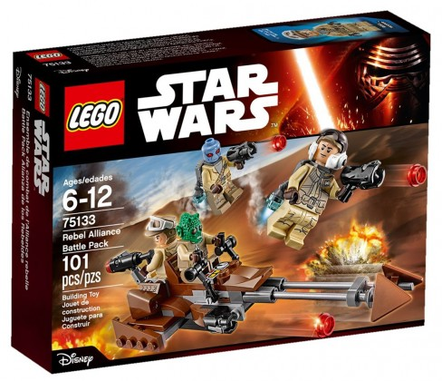 LEGO Star Wars 75133 - Pack de combat de l'Alliance Rebelle