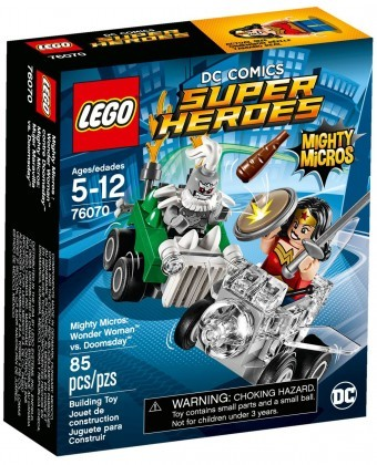 Nouveau LEGO DC Comics Super Heroes 76070 Mighty Micros Wonder Woman contre Doomsday