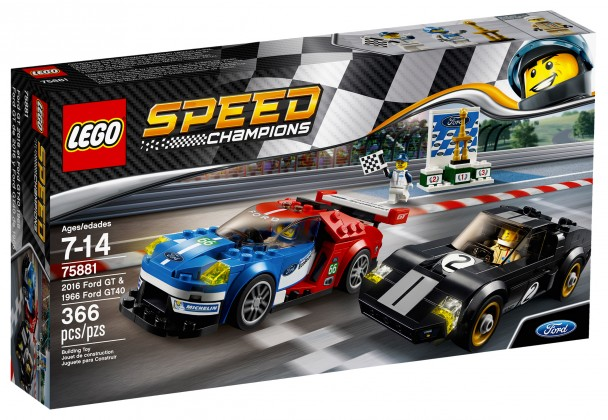 Nouveau LEGO Speed Champions 75881 2016 Ford GT and 1966 Ford GT40 2017
