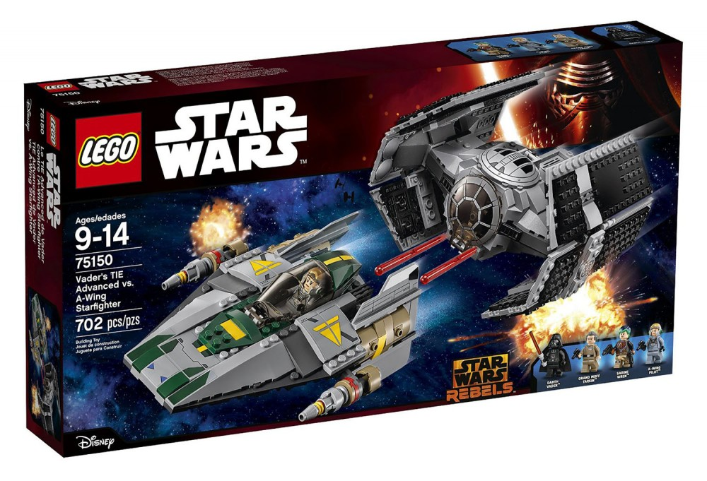 LEGO Star Wars Star Vader's Tie Advanced vs. A-Wing Fighter - 75150 - Photo 1