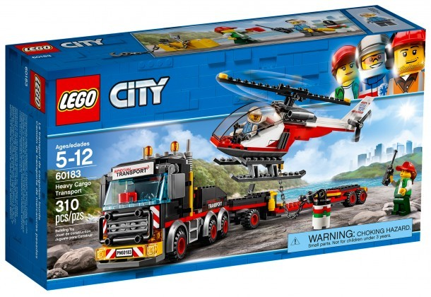 Nouveau LEGO City 60183 Heavy Cargo Transport 2018