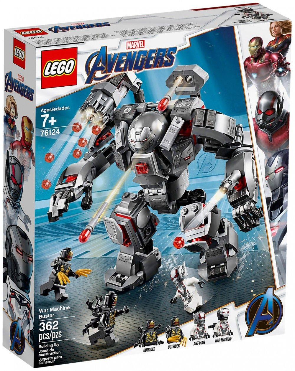 Nouveau LEGO Marvel 76124 L'armure de War Machine