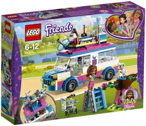 Nouveau LEGO Friends 41333 Olivia's Mission Vehicle 2018