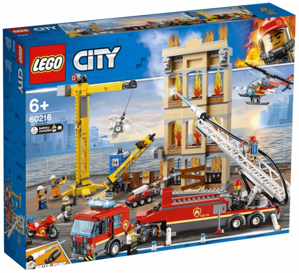 Nouveau LEGO City 60216 Downtown Fire Brigade 2019