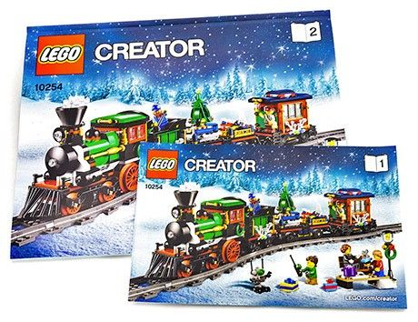 Notices de montage du LEGO Creator 10254 Le Train de Noël
