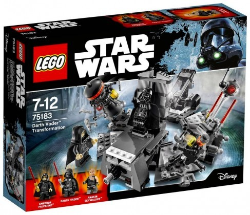 Nouveau LEGO Star Wars 75183 La transformation de Dark Vador Juin 2017