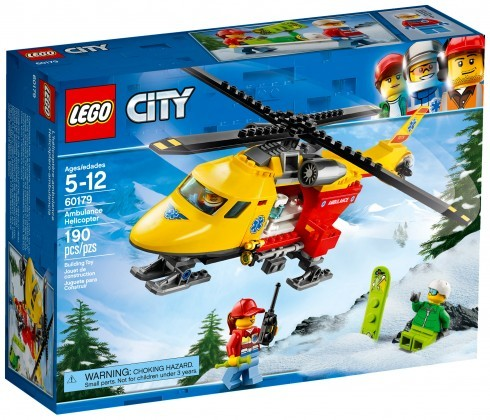 Nouveau LEGO City 60179 Ambulance Helicopter 2018