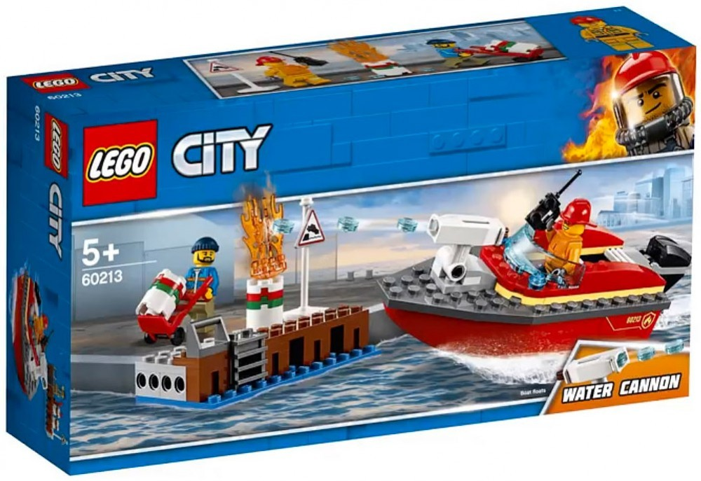 Nouveau LEGO City 60213 Dock Side Fire 2019