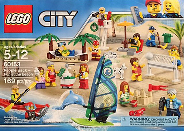 Nouveau LEGO City 60153 People Pack Fun at the beach 2017