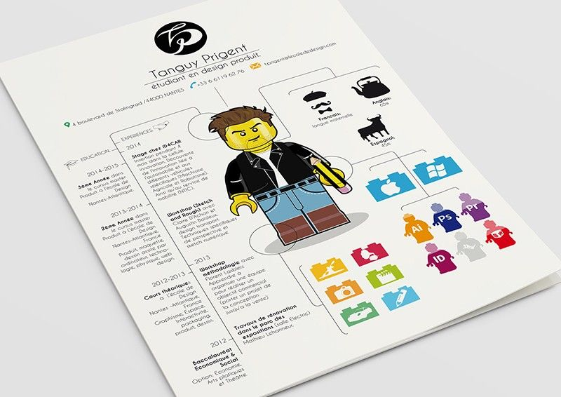 le cv version lego d u2019un  u00e9tudiant en design