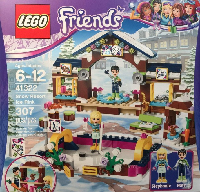 Nouveau LEGO Friends 41322 Snow Resort Ice Rink