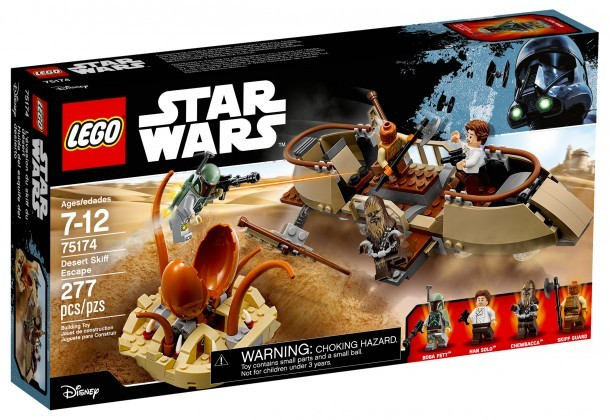 Nouveau LEGO Star Wars 75174 Desert Skiff Escape