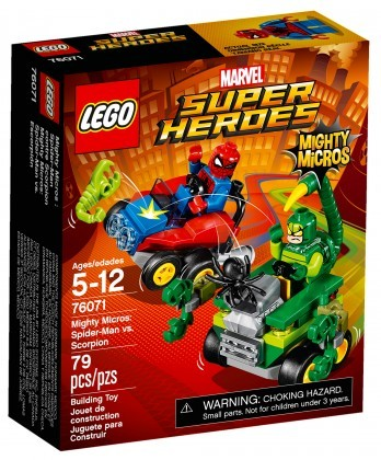 Nouveau LEGO Marvel Super Heroes 76071 Mighty Micros Spiderman contre Scorpion