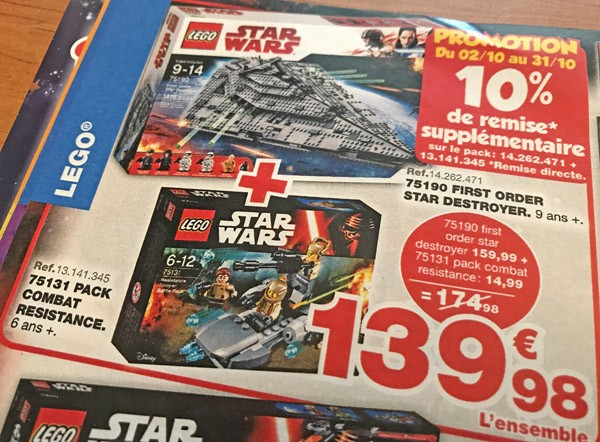 Promotion LEGO Star Wars chez Maxitoys