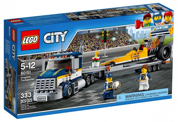 Nouveau LEGO City 60151 Dragster Transporter 2017
