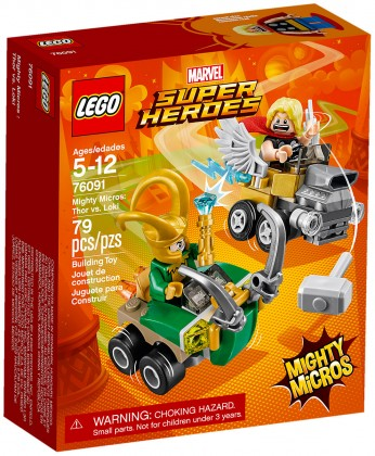 Nouveau LEGO Marvel 76091 Mighty Micros : Thor contre Loki 2018