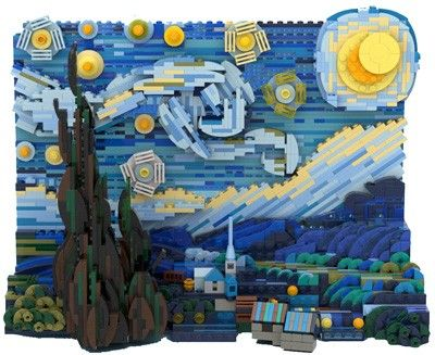 Projet LEGO IDEAS Vincent Van Gogh The Starry Night