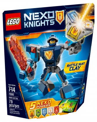 Nouveau LEGO Nexo Knights 70362 Battle Suit Clay