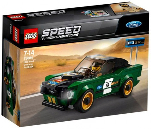 Nouveau LEGO Speed Champions 75884 Ford Mustang Fastback 2018