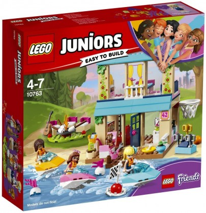 Nouveau LEGO Juniors 10763 Stephanie's Lakeside House (Friends) 2018