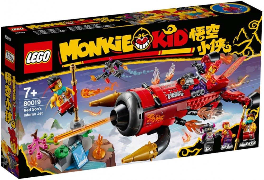 Nouveau LEGO Monkie Kid 80019 Red Son's Inferno Jet // Mars 2021