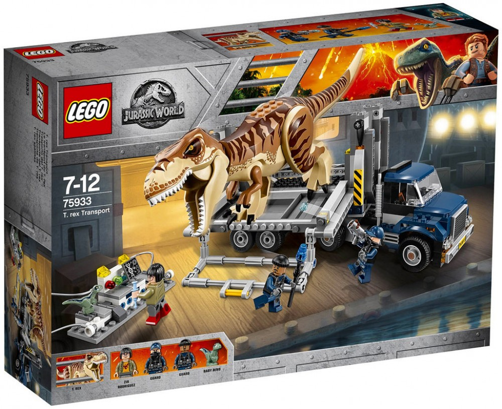 Nouveau LEGO Jurassic World 75933 Le transport du T. rex 2018