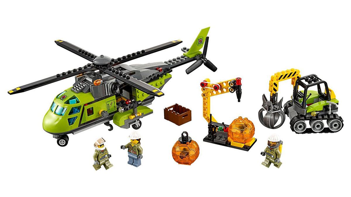 LEGO City Volcano Supply Helicopter - 60123 - Photo 3