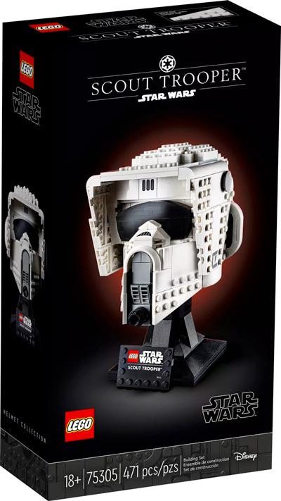 Nouveau LEGO Star Wars 75305 Le casque du Scout Trooper // Mai 2021