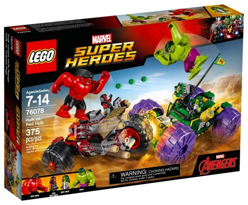 Nouveau LEGO Marvel Super Heroes 76078 Hulk vs Red Hulk