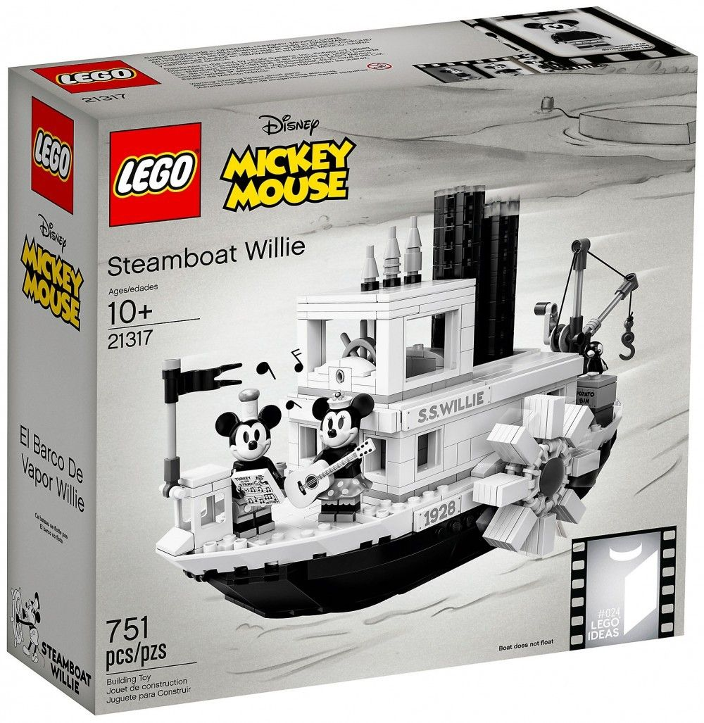 Nouveau LEGO Ideas 21317 Steamboat Willie