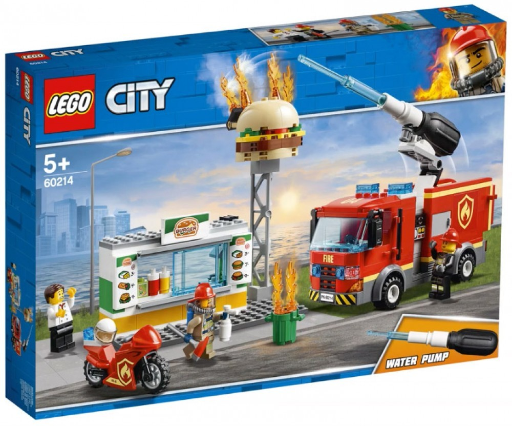 Nouveau LEGO City 60214 Burger Bar Fire Rescue 2019