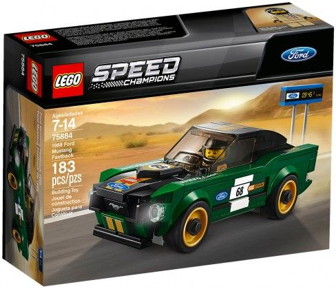 Nouveau LEGO Speed Champions 75884 Ford Mustang Fastback 1968 2018